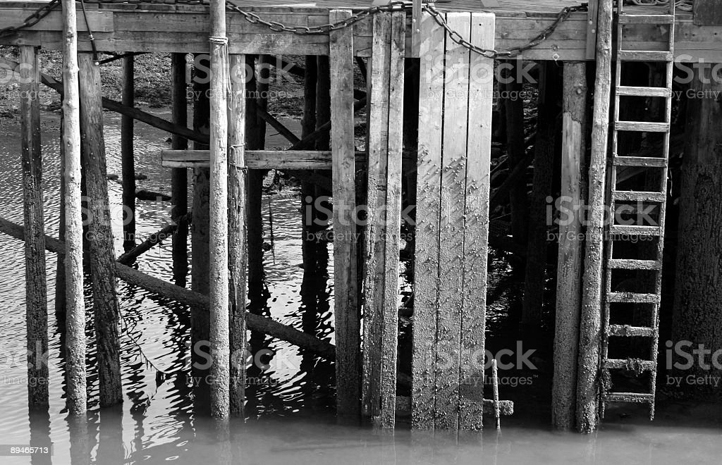 Dock at Low Tide royalty-free stock photo