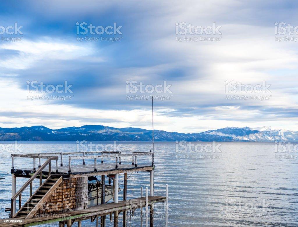 Dock at North Lake Tahoe royalty-free stock photo