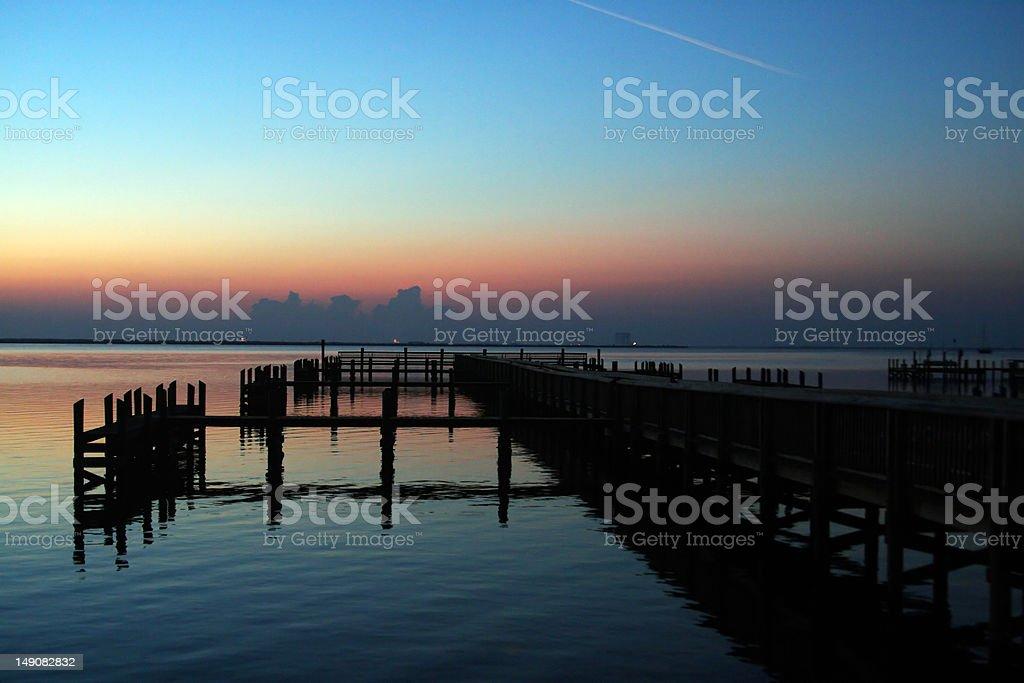 Dock at Sunrise stock photo