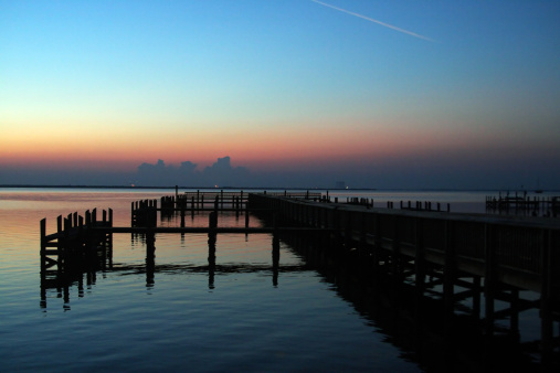 Dock At Sunrise Stock Photo - Download Image Now