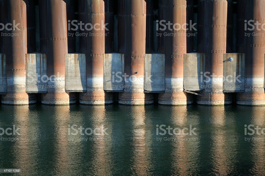 Dock columns royalty-free stock photo