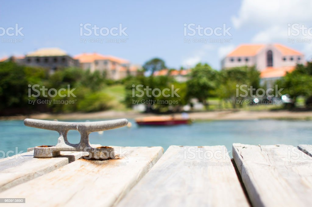 Dock in Grenada stock photo