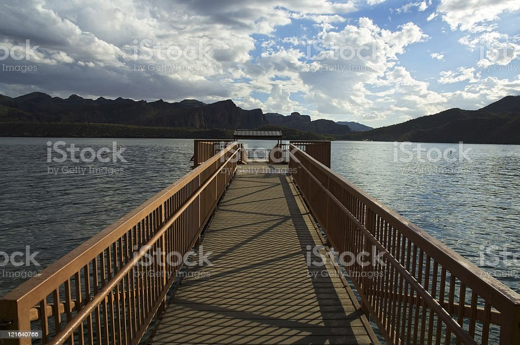 Dock in lake royalty-free stock photo