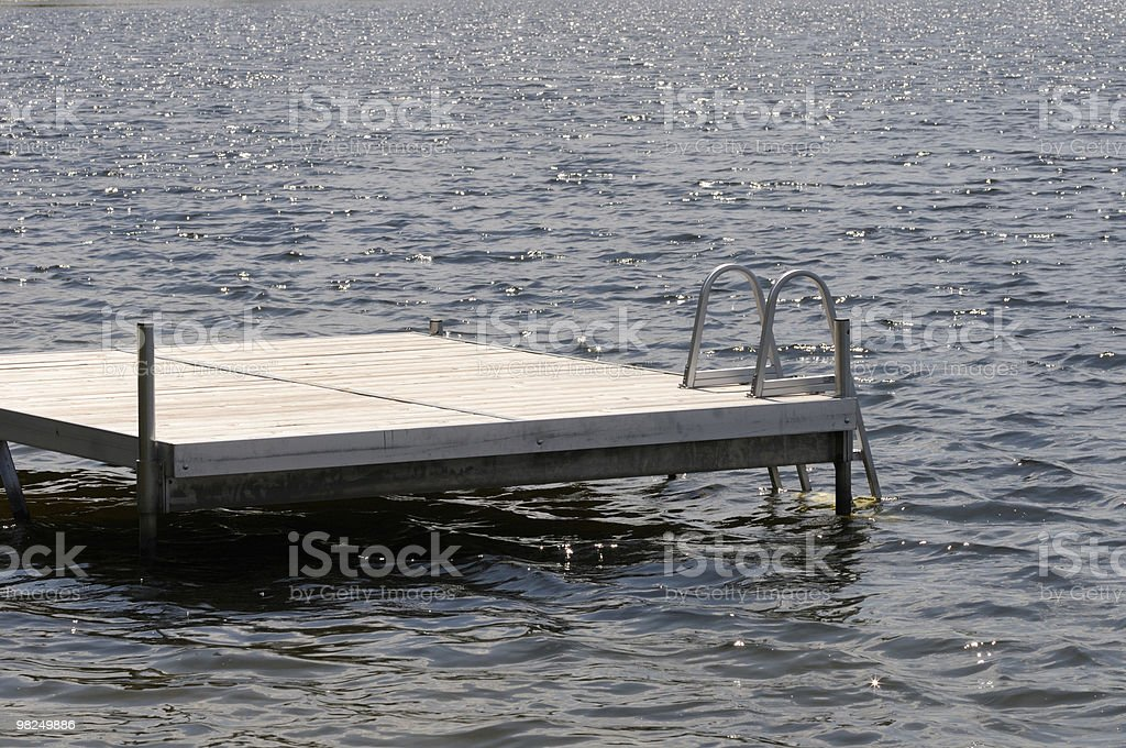 Dock in Lake royalty-free stock photo