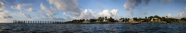 Dock in the Florida Keys Panorama stock photo