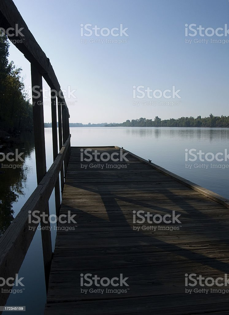 Dock in the Morning royalty-free stock photo