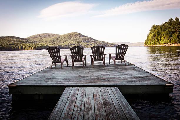 Dock in Upstate New York stock photo