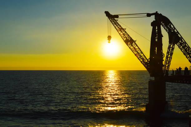 Dock in Vina del Mar Chile stock photo