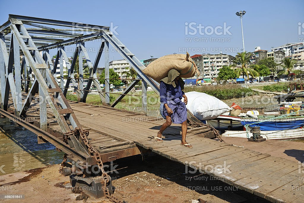 Dock Labourer royalty-free stock photo