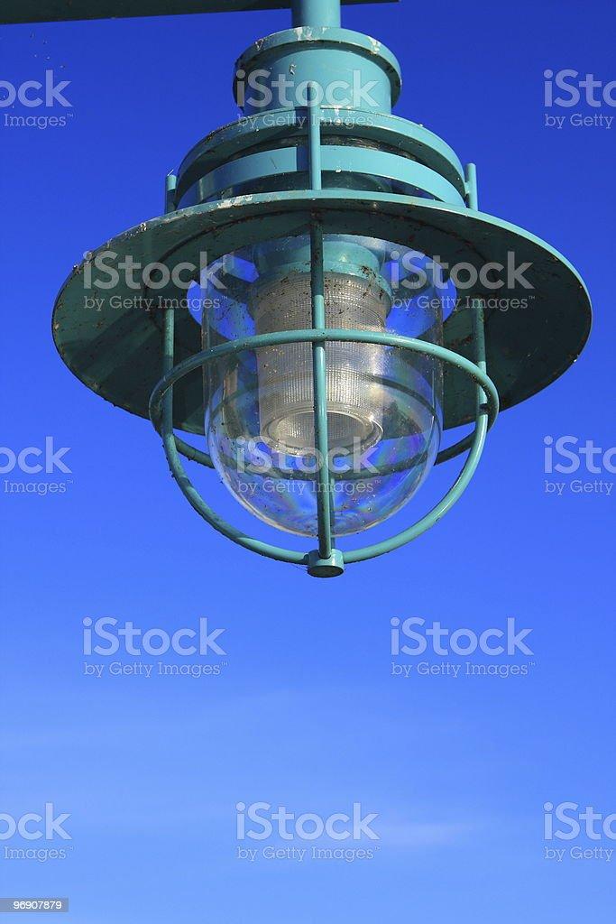 Dock light royalty-free stock photo