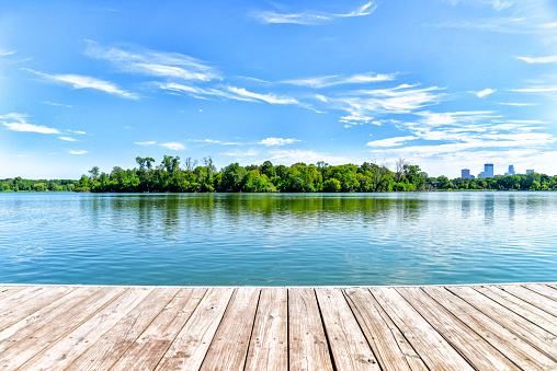 Dock on Lake in the City of Lakes - Minneapolis