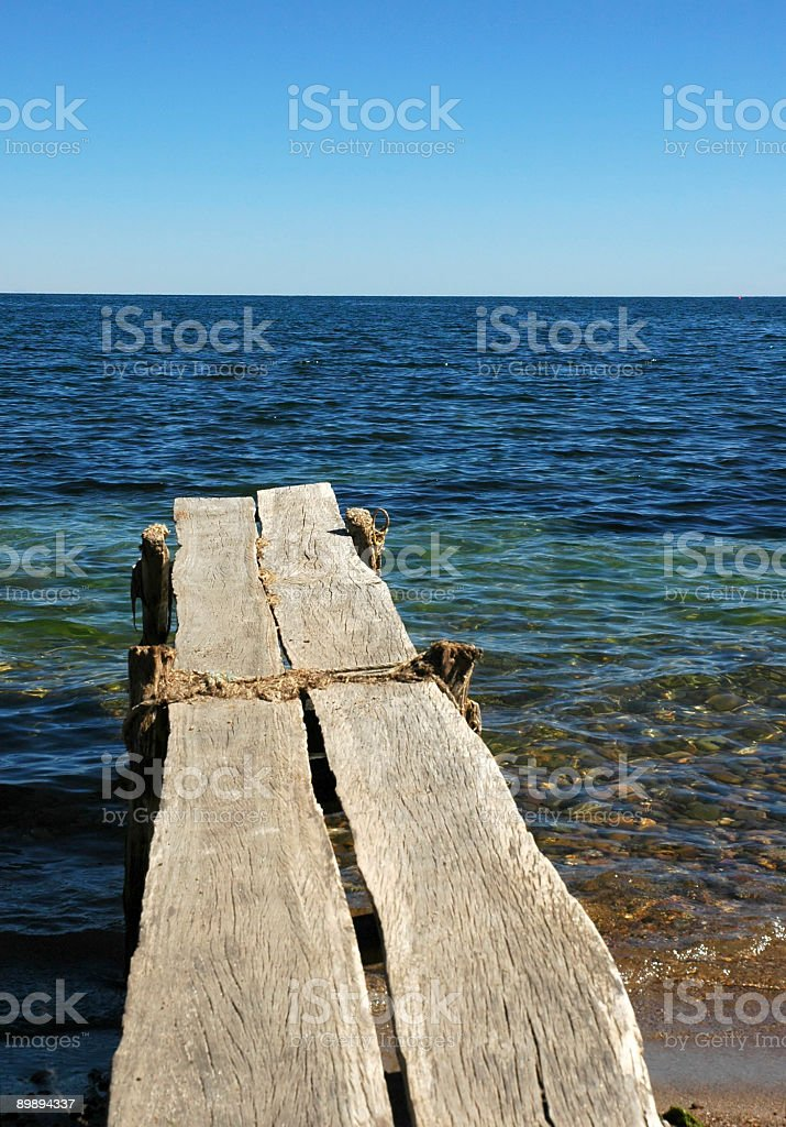 Dock on Lake Titicaca royalty-free stock photo