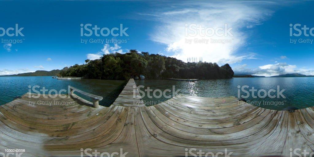 360 VR 8K Dock auf der See _ New Zealand – Foto