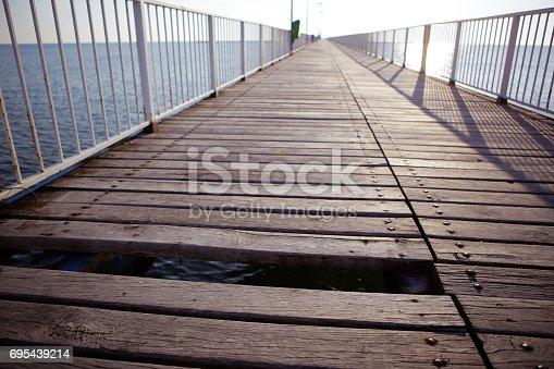 Dock in the Black Sea resort of Mamaia