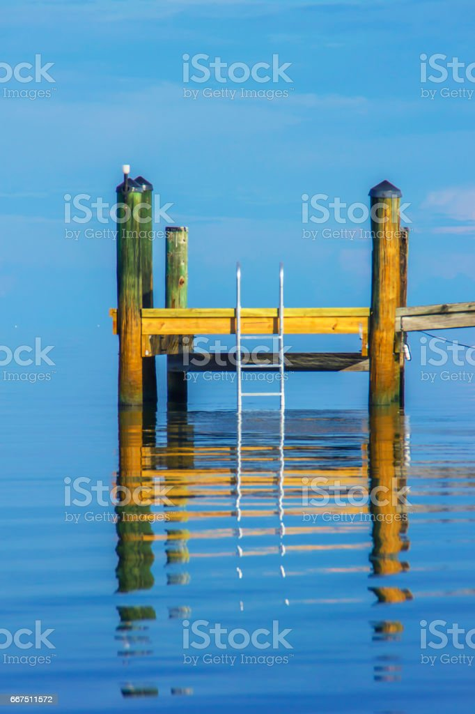 Dock reflection foto stock royalty-free