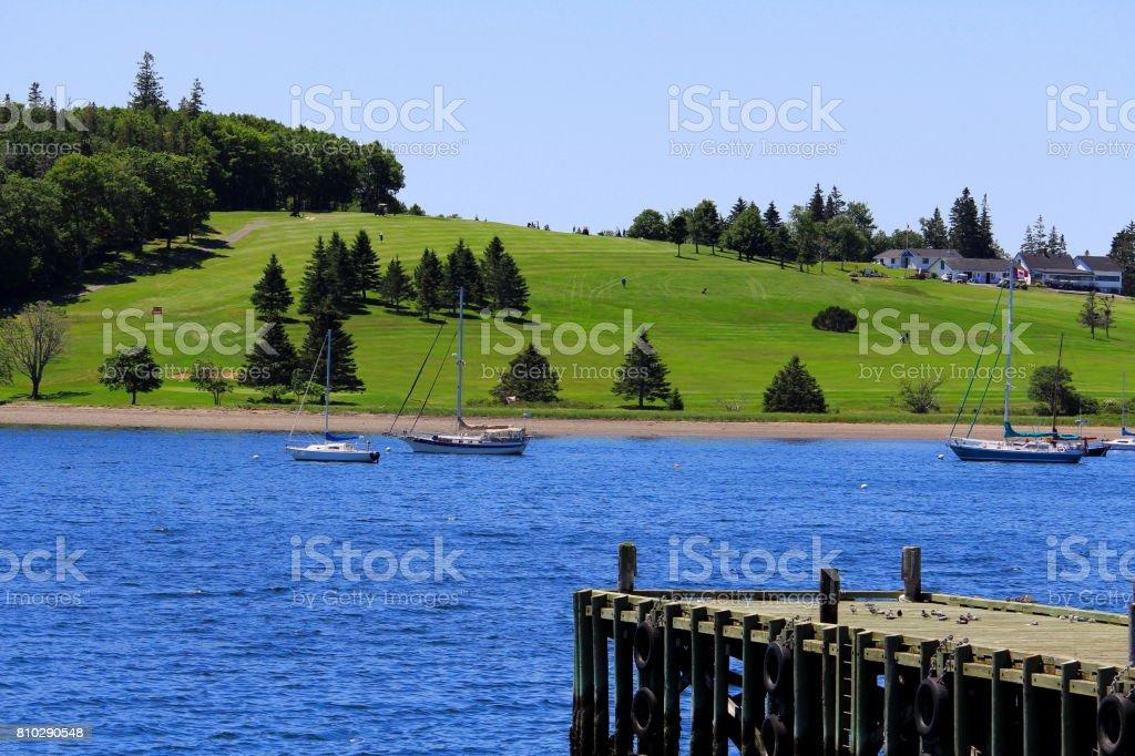 Dock View Across the Harbour stock photo