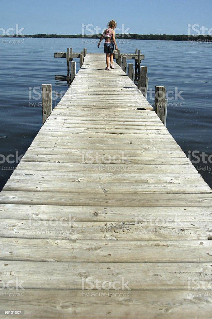 Dock walk royalty-free stock photo