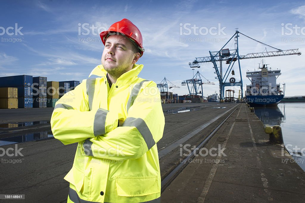 dock worker royalty-free stock photo