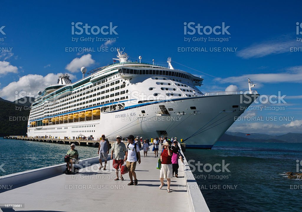 Docked at Labadee royalty-free stock photo