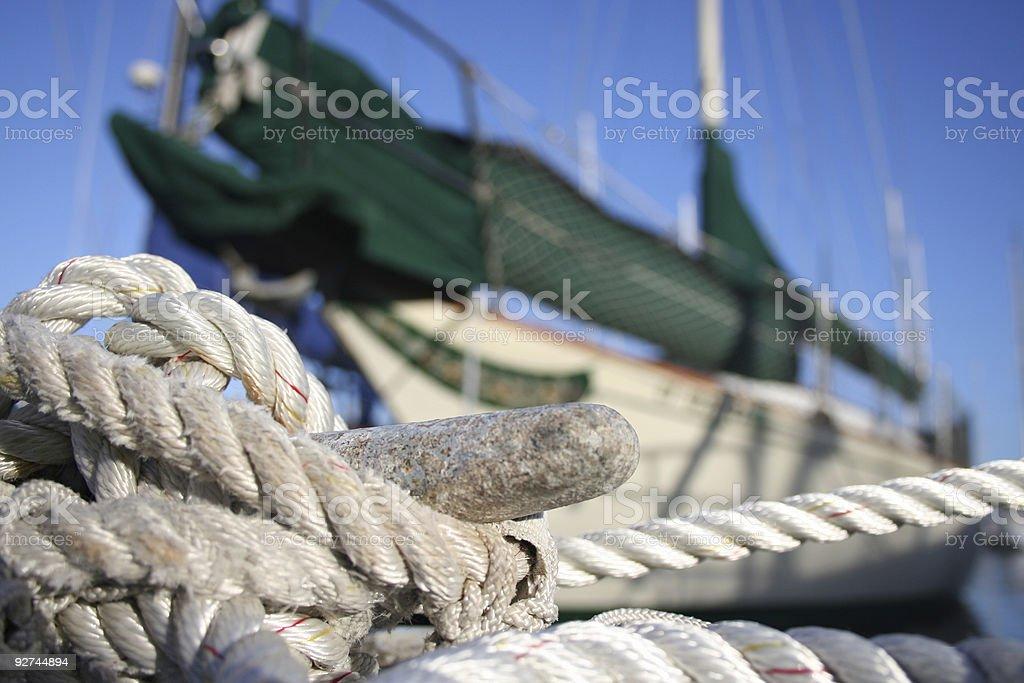 Docked Boat royalty-free stock photo