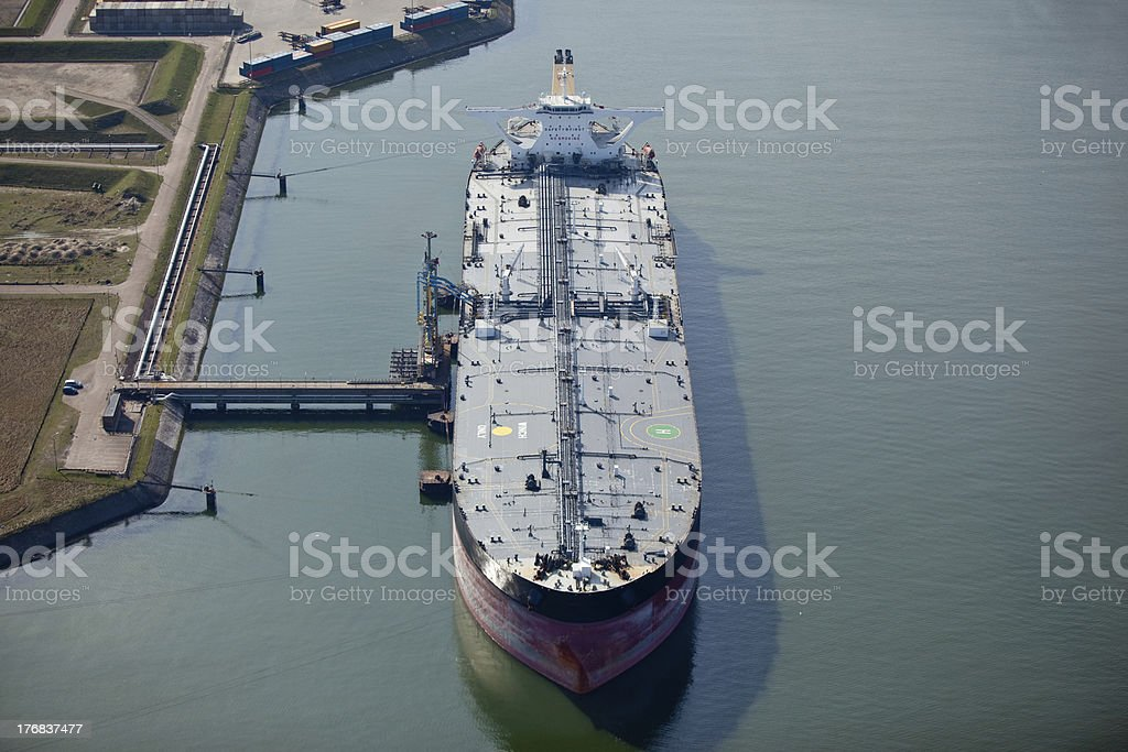 Harbor setting with a large oil tanker.You can find more of my...
