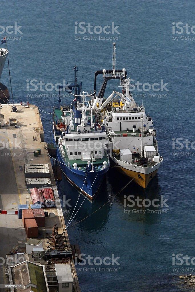 Docked Ships royalty-free stock photo