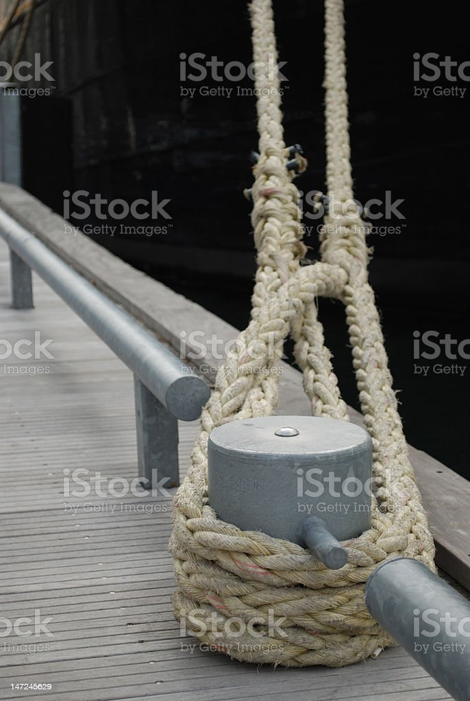 Docked tall-ship royalty-free stock photo