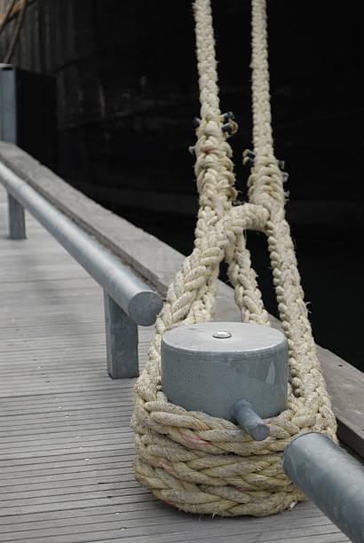 Docked tall-ship stock photo