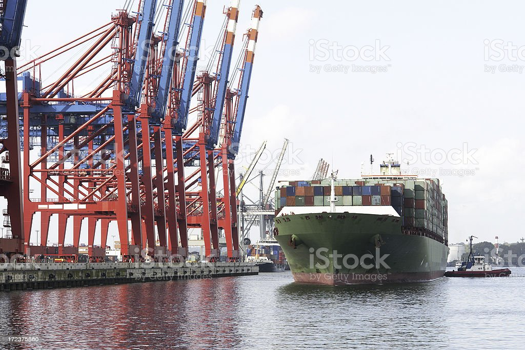 Docking Container Ship royalty-free stock photo