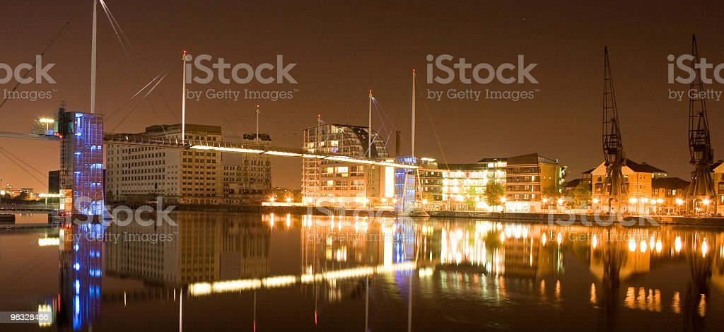 Docklands by night royalty-free stock photo