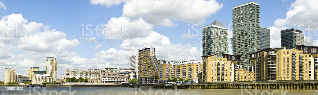 Docklands - Canary Wharf London stock photo