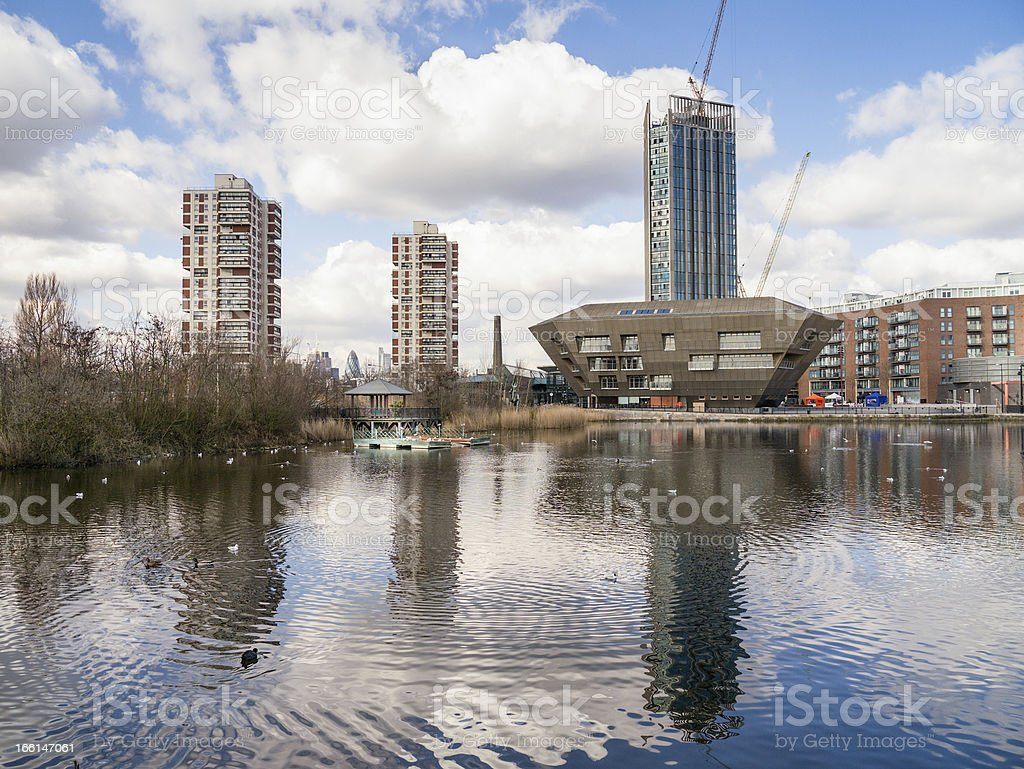 Docklands development royalty-free stock photo