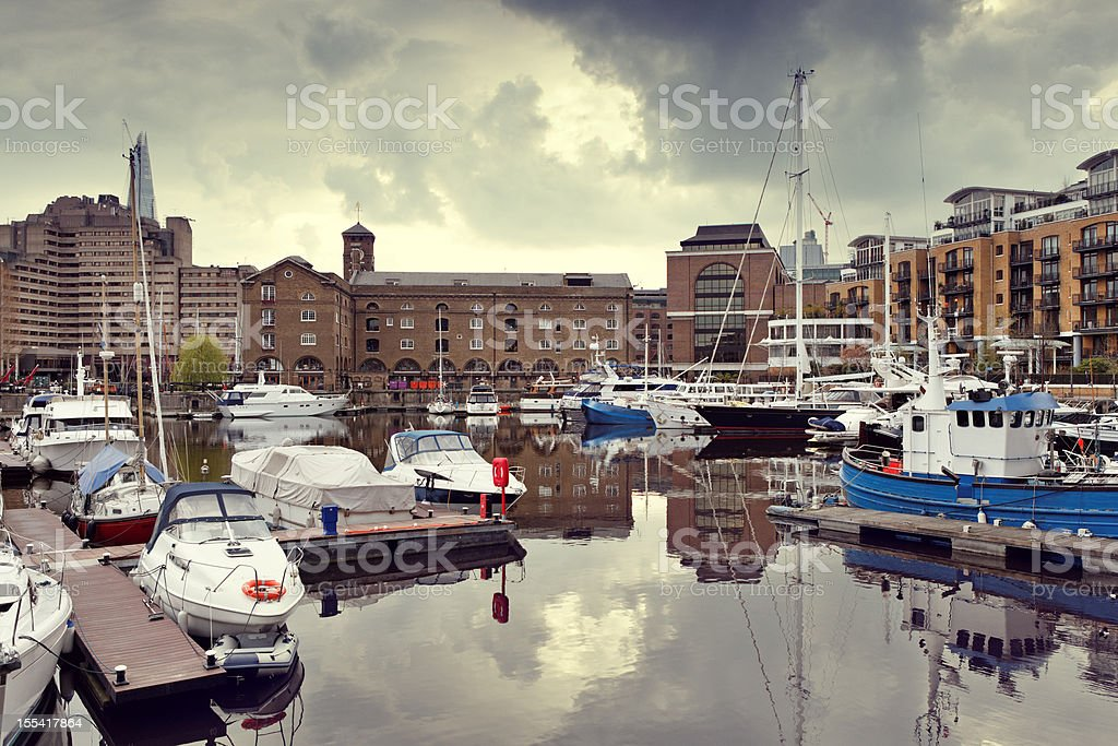 Docklands in London stock photo