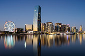 New apartments in Docklands, Melbourne.