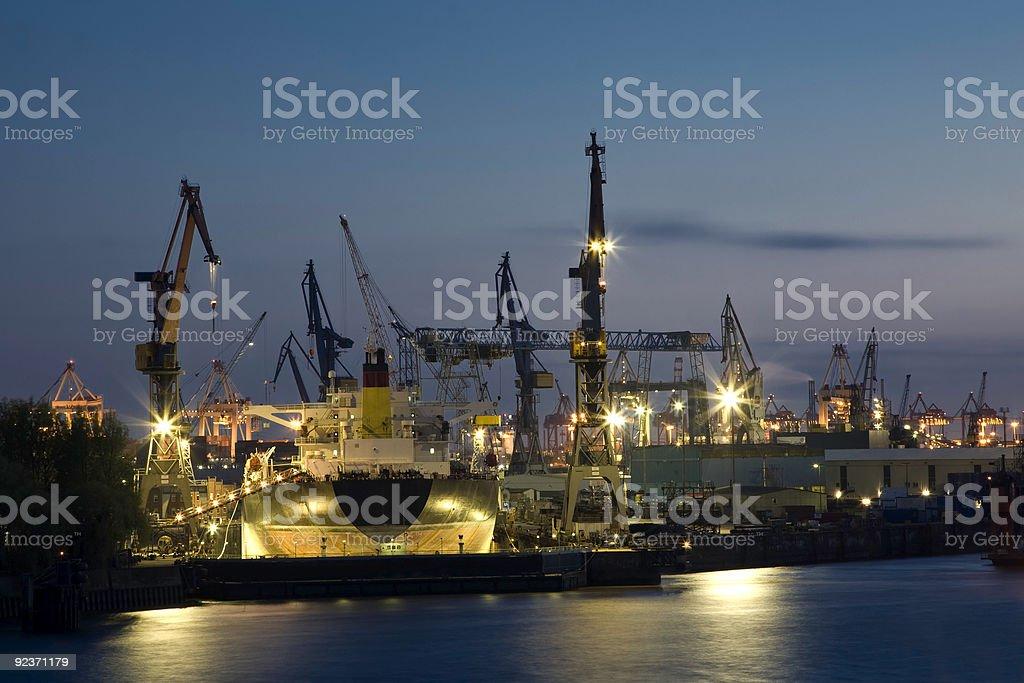 docks von Hamburg Lizenzfreies stock-foto