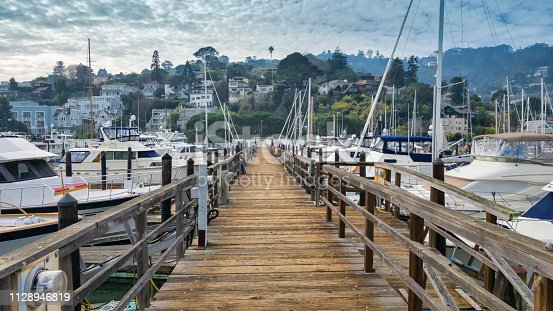 Photo taken at docks on Sausalito with many boats.