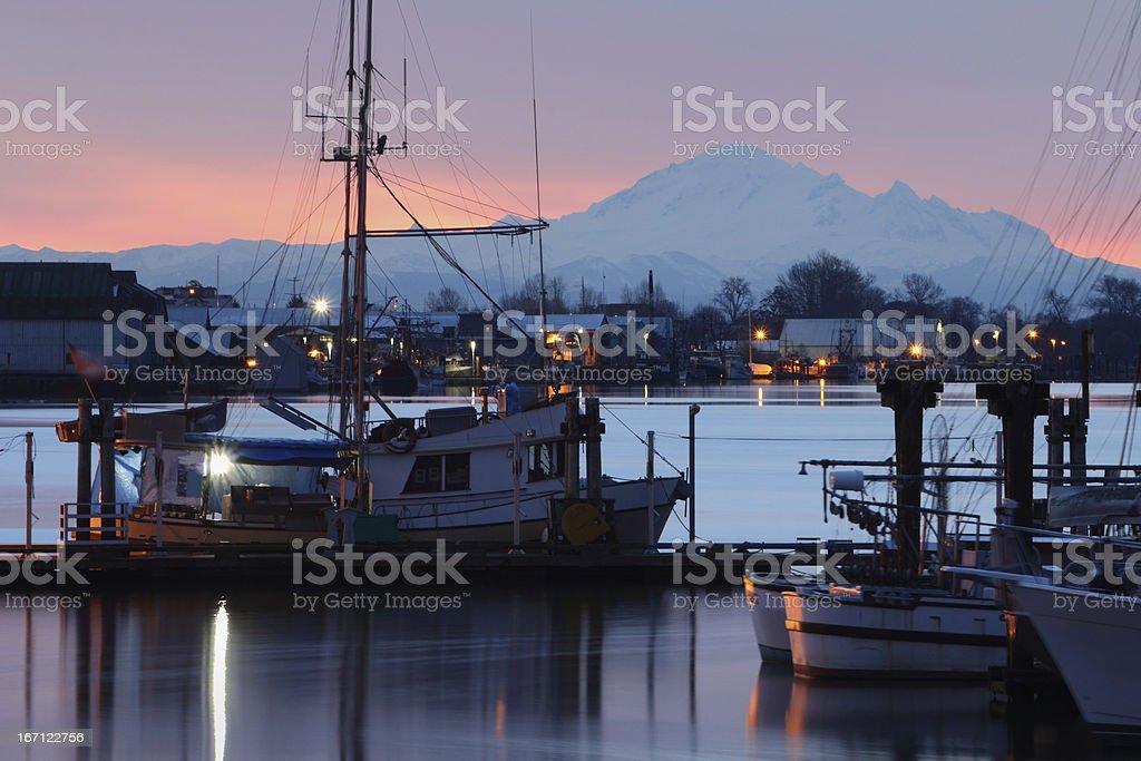 Dockside Morning Steveston royalty-free stock photo