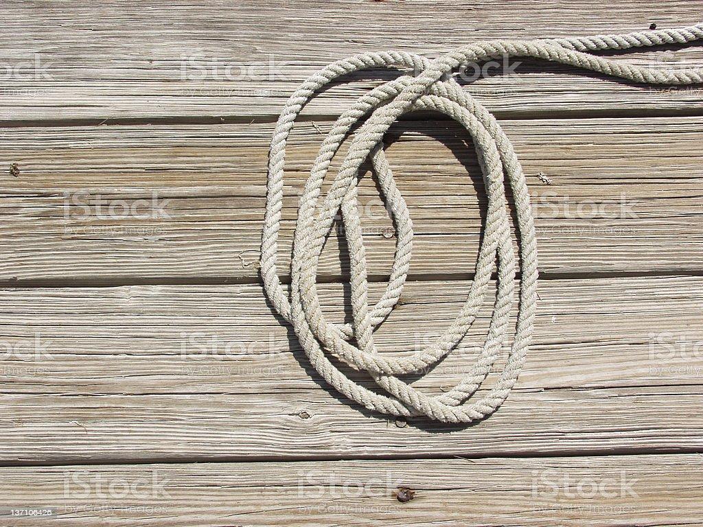 Dockside - Rope 2874 royalty-free stock photo