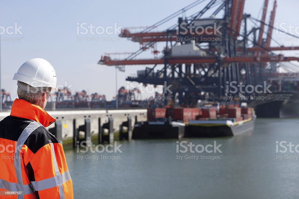 Dockworker royalty-free stock photo