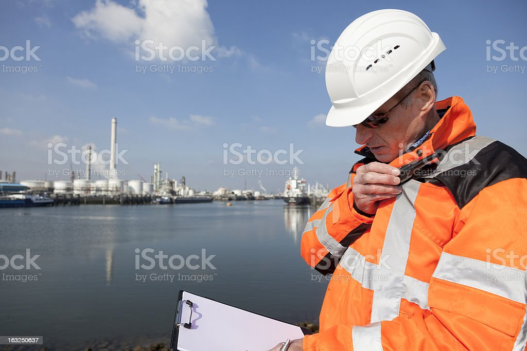 Dockworker stock photo