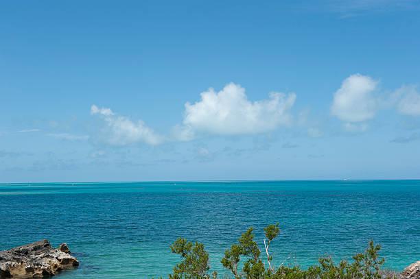 Dockyard beach in Bermuda stock photo