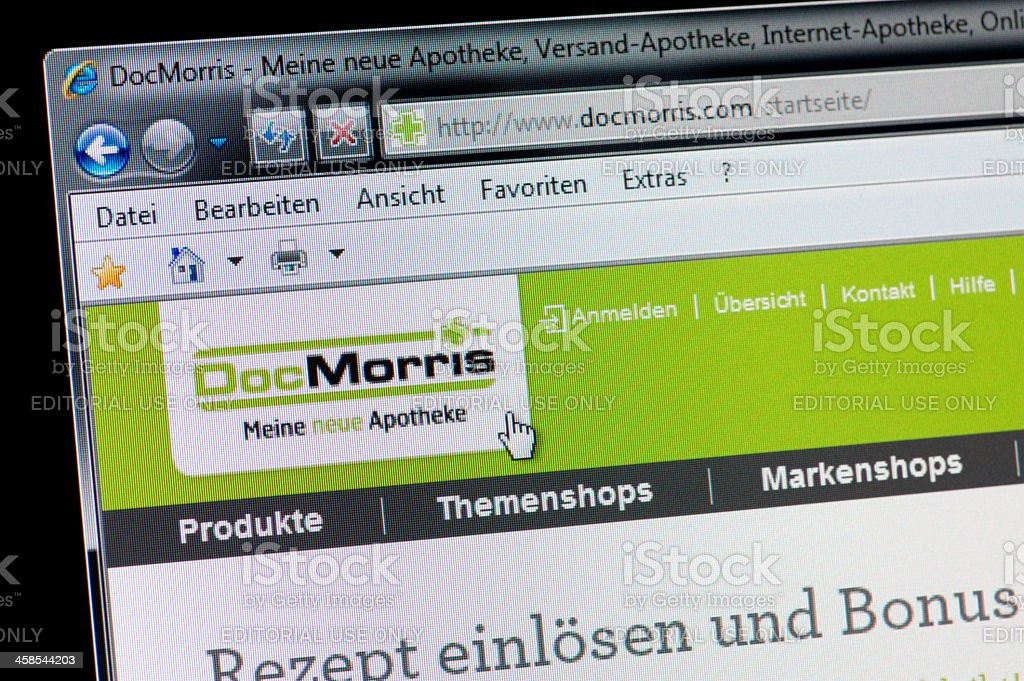 DocMorris - Macro shot of real monitor screen stock photo