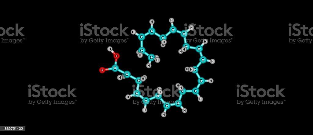 Docosahexaenoic acid molecular structure isolated on white stock photo