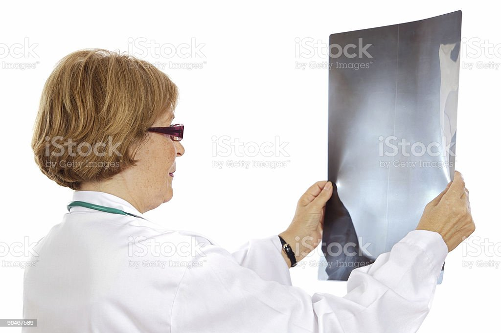 Doctor analyzing a radiography royalty-free stock photo