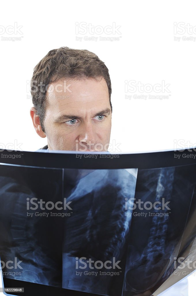 Doctor analyzing X-Ray royalty-free stock photo