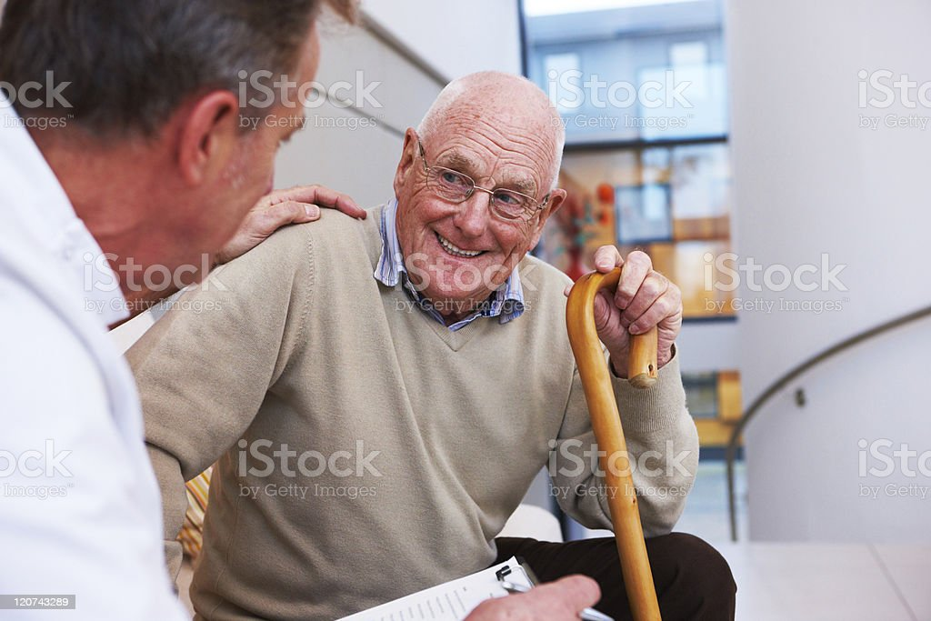 Doctor and an Elderly Patient royalty-free stock photo