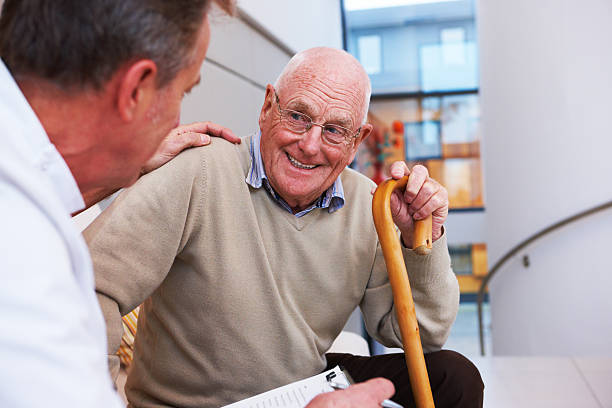 Doctor and an Elderly Patient stock photo