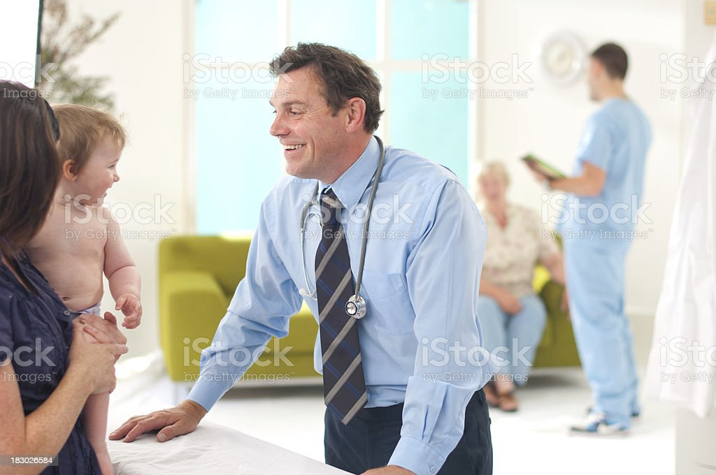 doctor and baby royalty-free stock photo