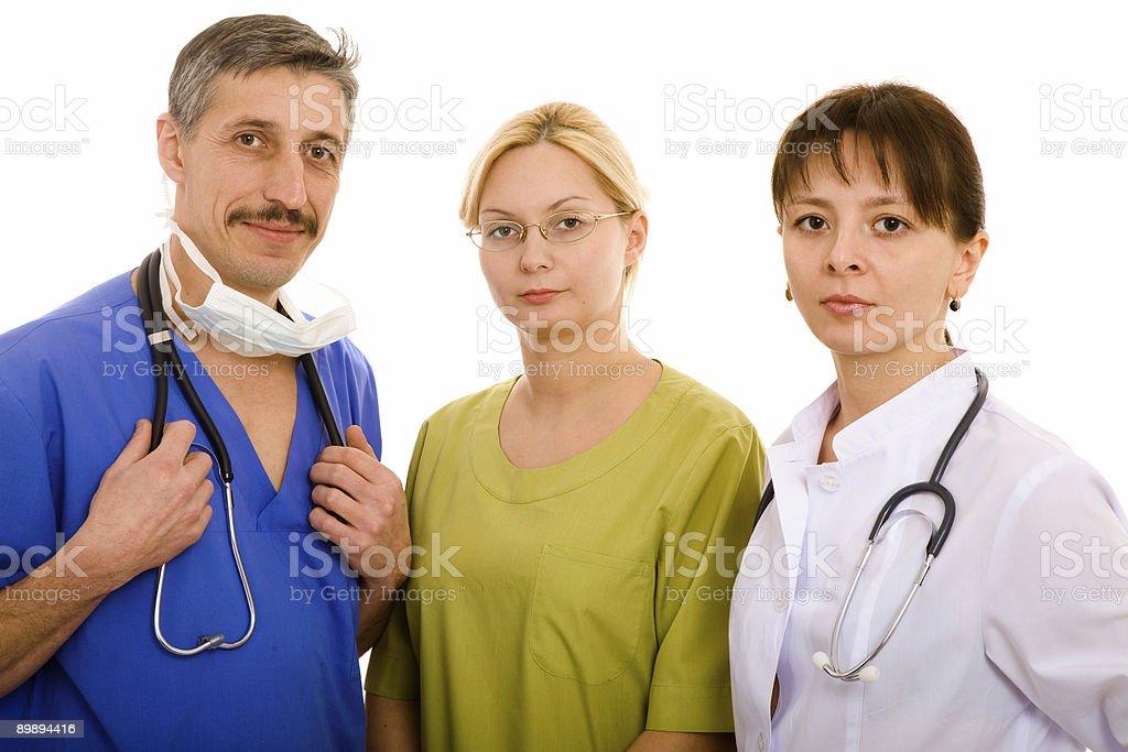 Médico y su equipo médico foto de stock libre de derechos