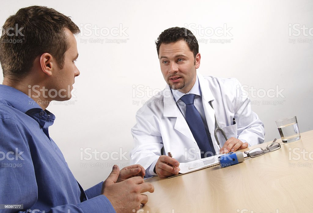 doctor and male patient - Royalty-free Adult Stock Photo